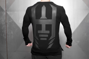 Body Engineers - VENOM Loose Fit Sweater – Black Out - Rückseite