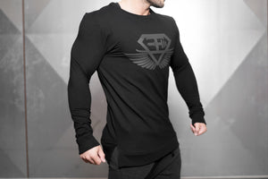 Body Engineers - VENOM Loose Fit Sweater – Black Out - Seitlich