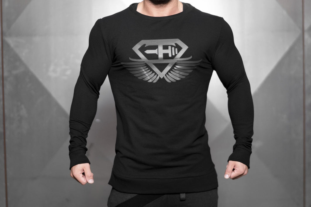 Body Engineers - VENOM Loose Fit Sweater – Black Out - Vorderseite