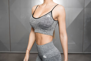 Body Engineers - Valkyrie Seamless Sports Bra 2.0 – Black - Vorderseite