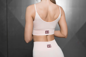 Body Engineers - Valkyrie Seamless Sports Bra – Nude - Rückseite