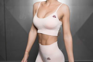 Body Engineers - Valkyrie Seamless Sports Bra – Nude - Vorderseite