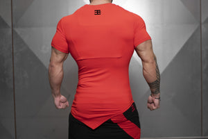 Body Engineers - YUREI X Prometheus 3.0 – Asymmetric V-Neck - Fire Red - Rückseite