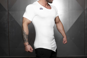 YUREI X Prometheus 3.0 – Asymmetric V-Neck - White Out - Seitlich