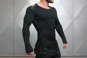 Body Engineers - DC – Enigma Long Sleeve - Black - Seitlich 1