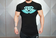 Body Engineers - Engineered Life T 2.0 – Black & Sky Blue - Vorderseite