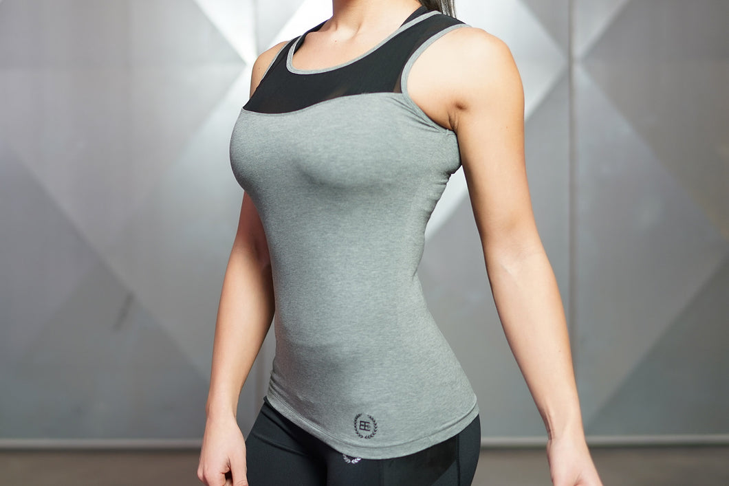 Body Engineers - EOS Tank Top – Anthracite - Vorderseite