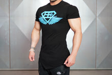 Body Engineers - Engineered Life T 2.0 – Black & Sky Blue - Seitlich