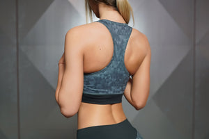 Body Engineers - GEO Sports Bra – Dark Grey - Rückseite