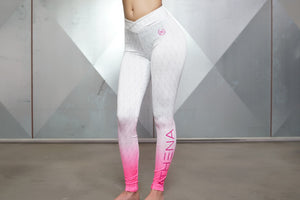 Body Engineers - Gradient Leggings – Graphic White - Vorderseite