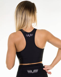 Gavelo - PLAIN Black Sports Bra - Rückseite