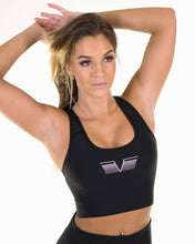 Gavelo - PLAIN Black Sports Bra - Vorderseite
