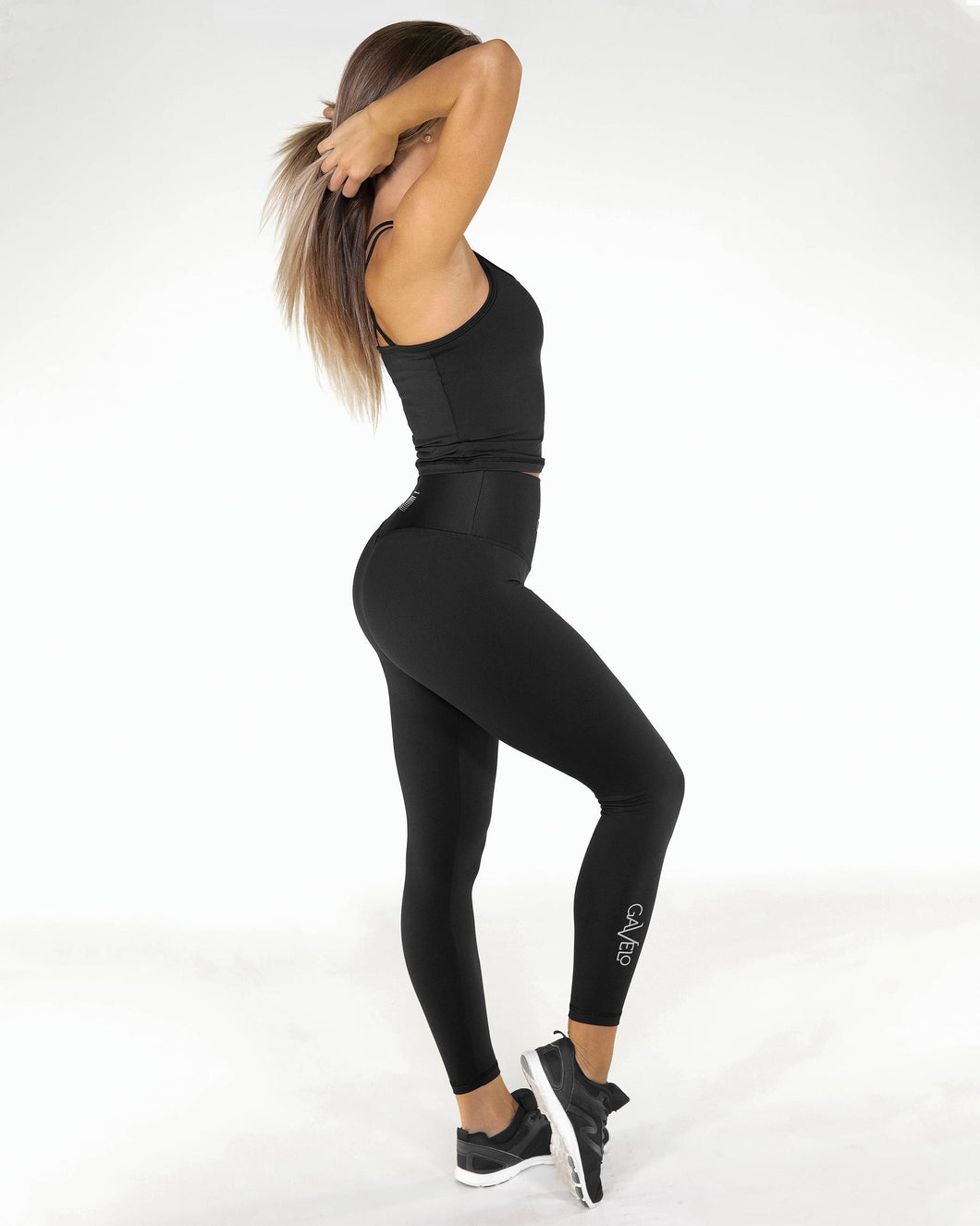 Gavelo - POP Black Scrunch Leggings - Seitlich