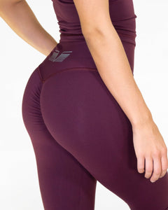 Gavelo - POP Burgundy Scrunch Leggings - Detail
