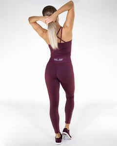 Gavelo - POP Burgundy Scrunch Leggings - Rückseite