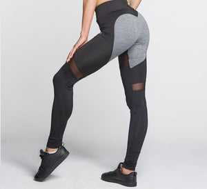 Gym Glamour - Leggings – Black & Grey Heart - Vorderseite Detail