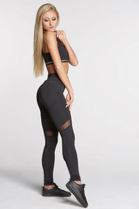 Gym Glamour - Leggings – Full Black Heart - Seitlich
