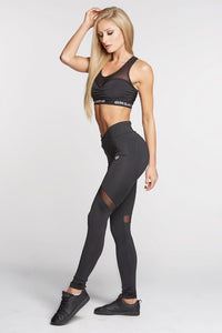 Gym Glamour - Leggings – Full Black Heart - Seitlich 1