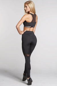 Gym Glamour - Leggings – Full Black Heart - Rückseite