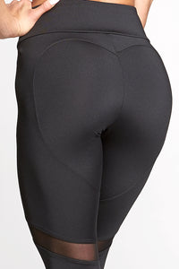 Gym Glamour - Leggings – Full Black Heart - Rückseite Detail