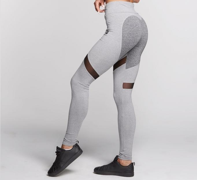 Gym Glamour - Leggings – Mixed Grey Heart - Seitlich Detail