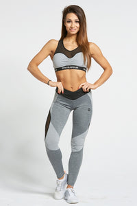 Gym Glamour - Leggings – Sexy Mixed Grey - Vorderseite