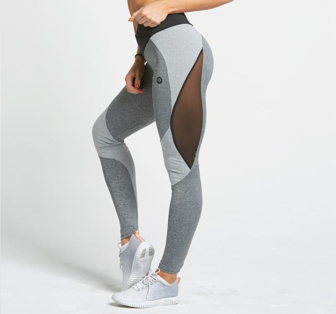 Gym Glamour - Leggings – Sexy Mixed Grey - Detail