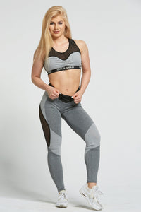 Gym Glamour - Leggings – Sexy Mixed Grey - Vorderseite 1
