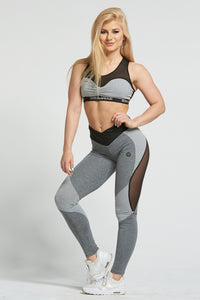 Gym Glamour - Leggings – Sexy Mixed Grey - Vorderseite 2