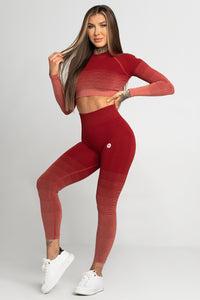 Gym Glamour - Seamless Leggings – Burgundy Ombre