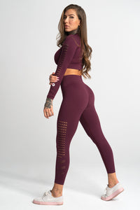 Gym Glamour - Seamless Leggings – Dark Berry