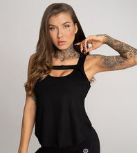 Gym Glamour - Gym Top - Black - Vorderseite Detail