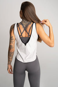 Gym Glamour - Gym Top - Grey - Rückseite 1