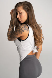 Gym Glamour - Gym Top - Grey - Seitlich