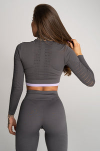 Gym Glamour - Rashguard - Space Grey - Rückseite