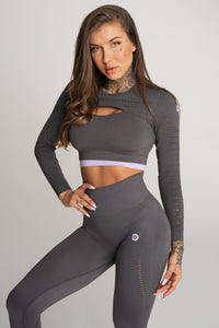 Gym Glamour - Rashguard - Space Grey - Vorderseite