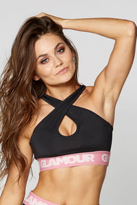 Gym Glamour - Black Basic Bra - Vorderseite 2
