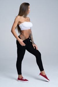 Gym Glamour - Boyfriend Sweatpants - Black - Seitlich 2