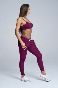 Gym Glamour - Boyfriend Sweatpants - Blueberry - Seitlich 2