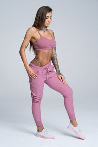 Gym Glamour - Boyfriend Sweatpants - Dirty Pink - Seitlich