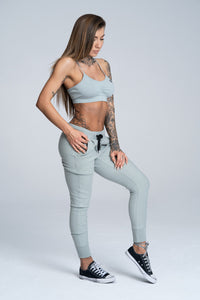 Gym Glamour - Boyfriend Sweatpants - Grey - Seitlich
