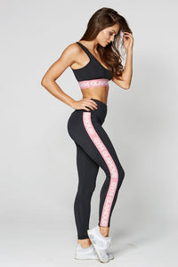 Gym Glamour - Leggings – High Waist Black - Seitlich