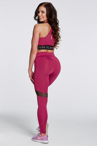 Gym Glamour - Leggings – Raspberry Heart - Rückseite 2