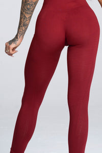 Gym Glamour - Seamless Leggings – Burgundy - Rückseite Detail