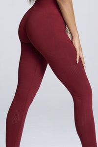 Gym Glamour - Seamless Leggings – Burgundy - Seitlich Detail
