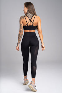 Gym Glamour - Seamless Leggings – Carbon - Rückseite
