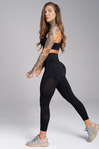 Gym Glamour - Seamless Leggings – Carbon - Seitlich