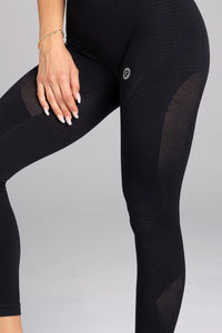 Gym Glamour - Seamless Leggings – Carbon - Seitlich Detail