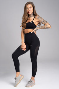 Gym Glamour - Seamless Leggings – Carbon - Vorderseite