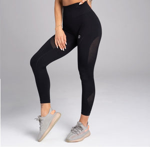 Gym Glamour - Seamless Leggings – Carbon - Vorderseite Detail